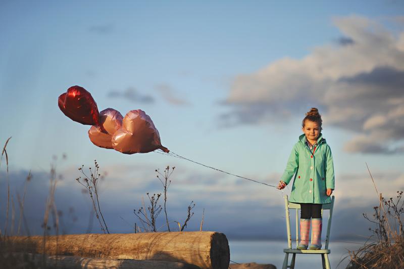 little girl balloon