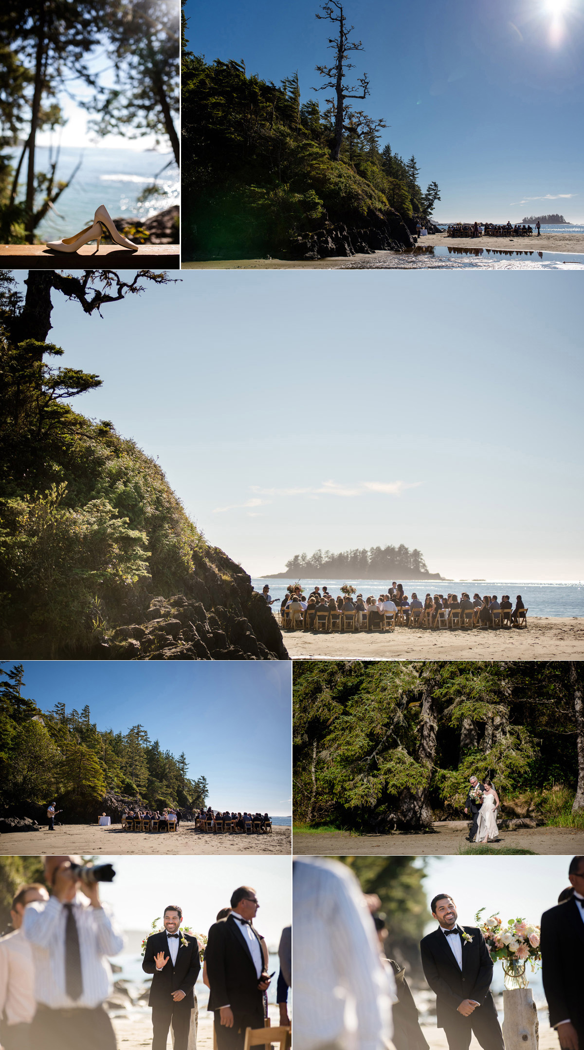 vancouver island beach wedding