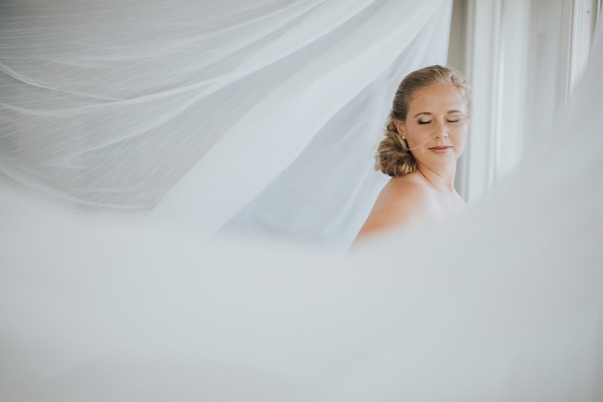 新娘在白色