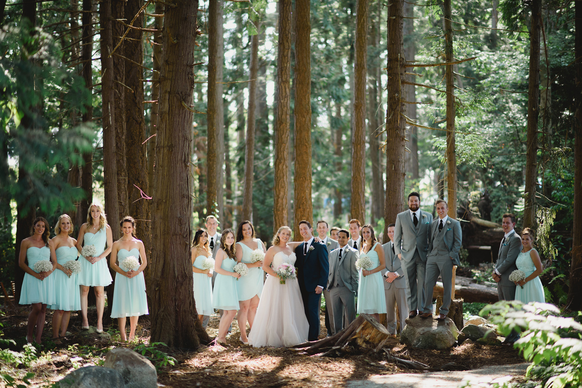 wedding party forest