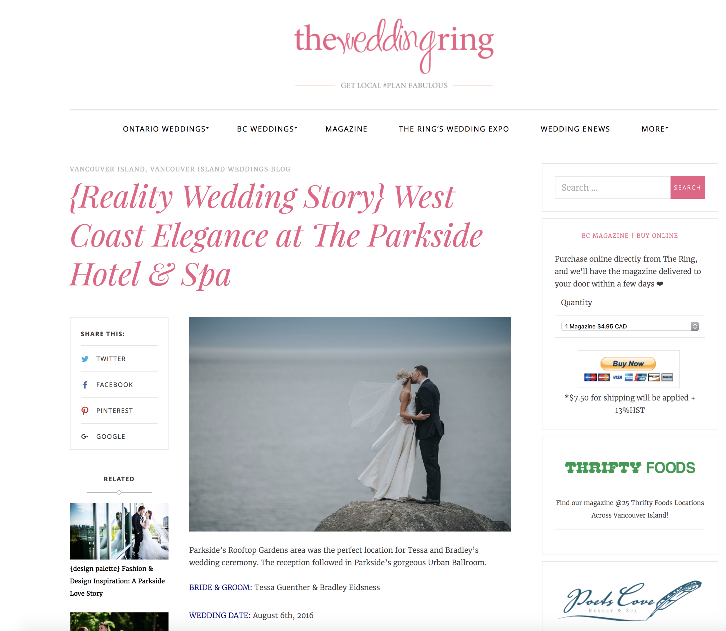 vancouver island weddings