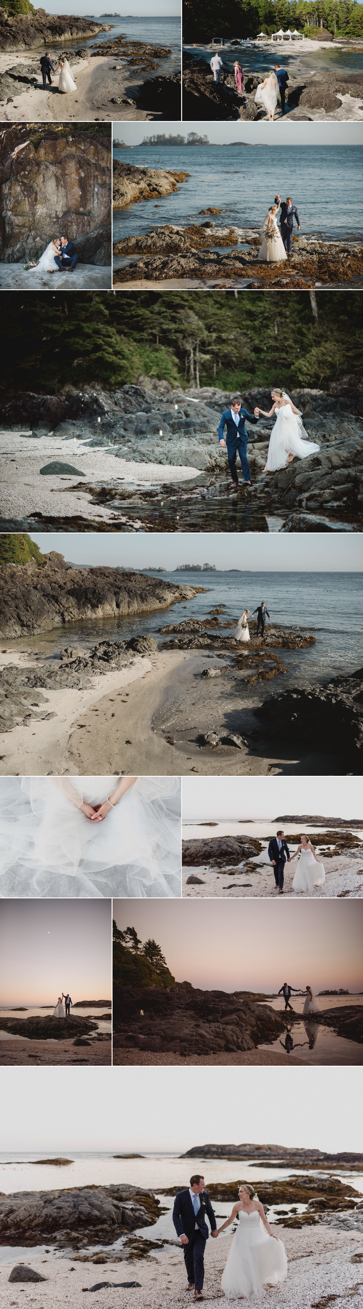 beach wedding, beach wedding photographer, award winning tofino wedding photographer, wedding photography, private beach wedding
