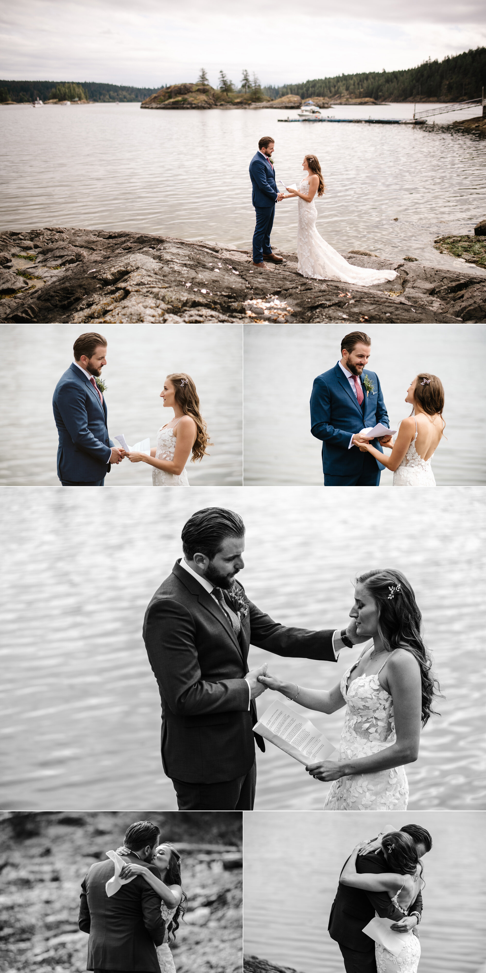 first look and private vows
