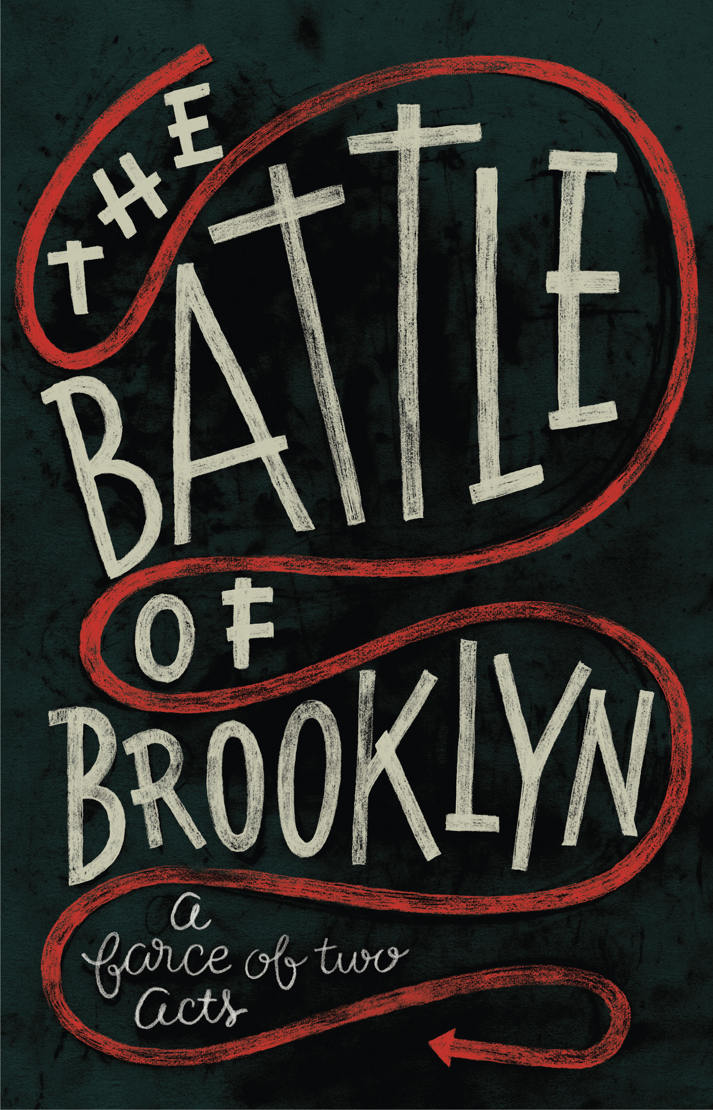 Banner Lettering and Design for the  New York Historical Society 's Exhibition  The Battle of Brooklyn