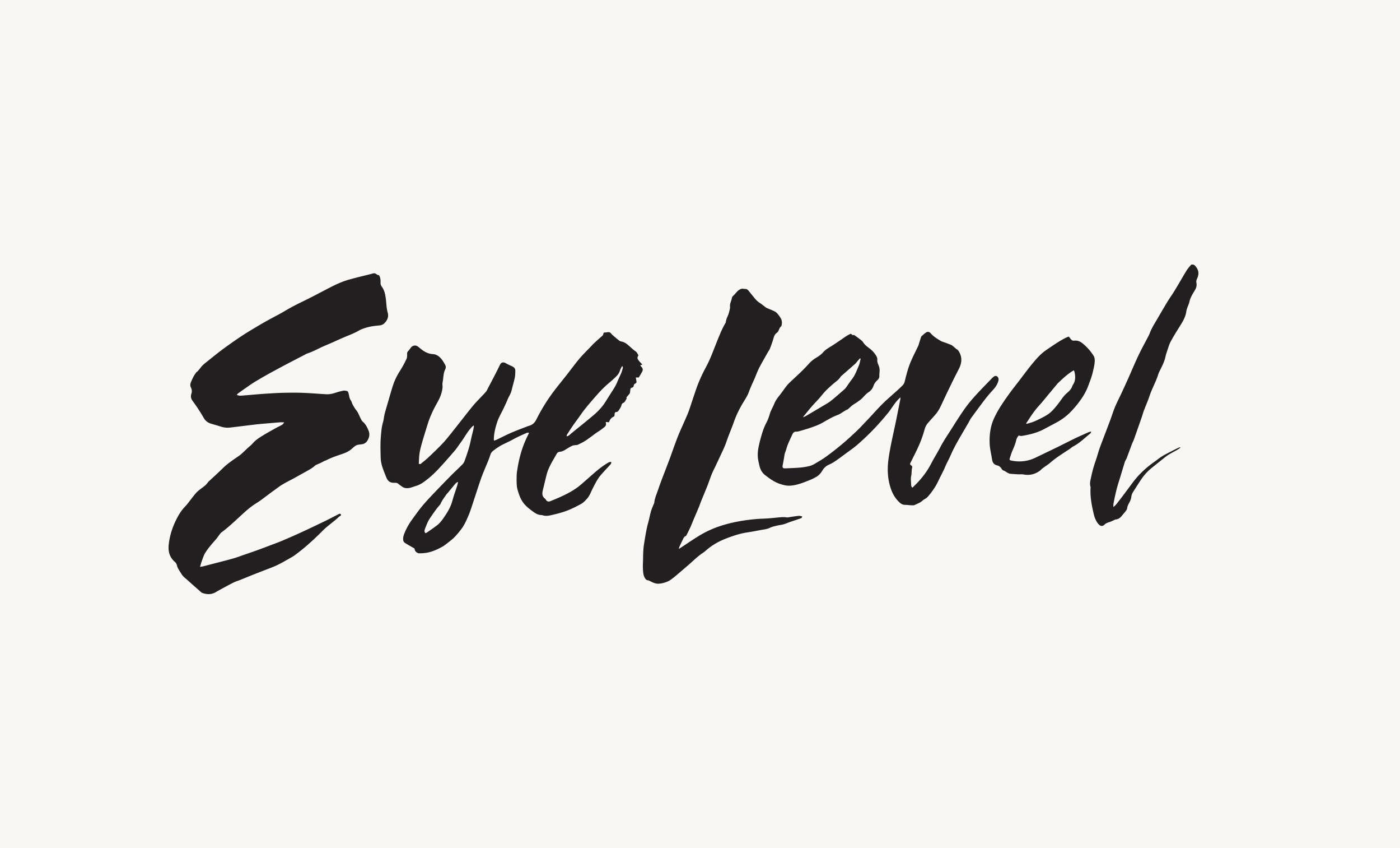 Branding for   Eye Level ,  an online magazine for everything literary