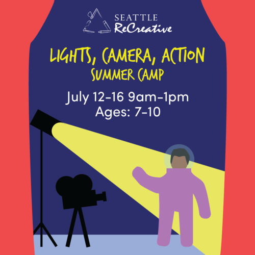 Lights, Camera, Create! Summer Camp July 12-16