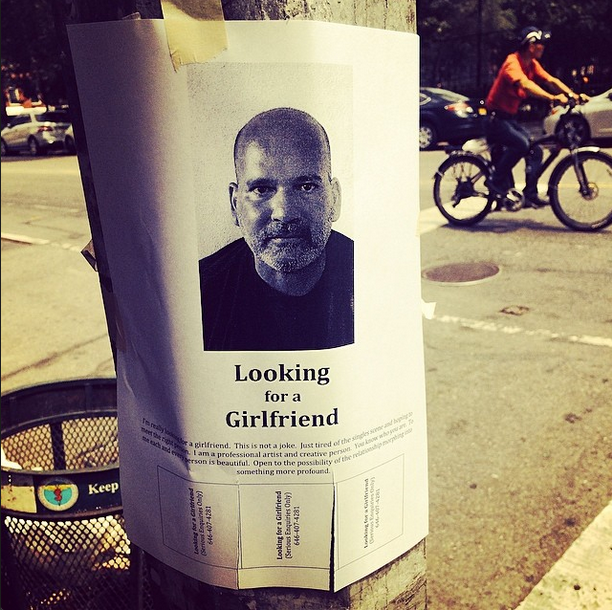 Looking for love. East Village, NYC