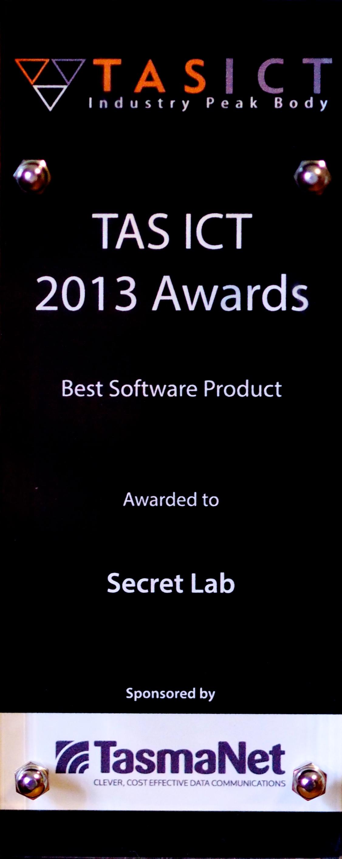 Secret Lab's 2013 TASICT Award