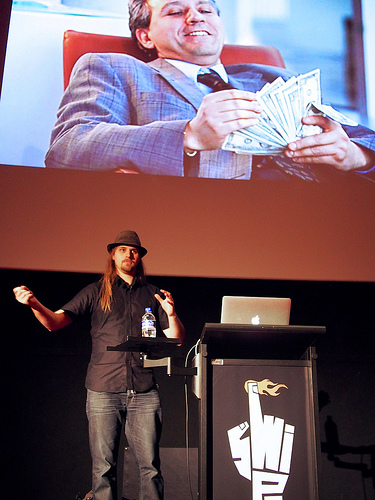 Jon from Secret Lab presenting at Swipe Conference 2012