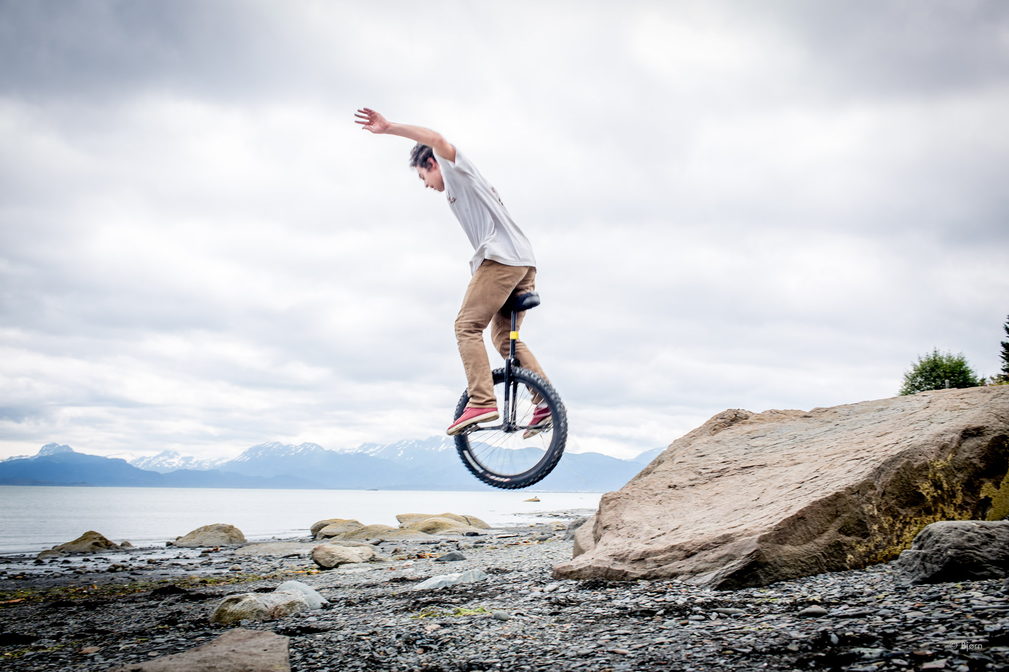 Noah Rough-Terrain Unicycling The Beach