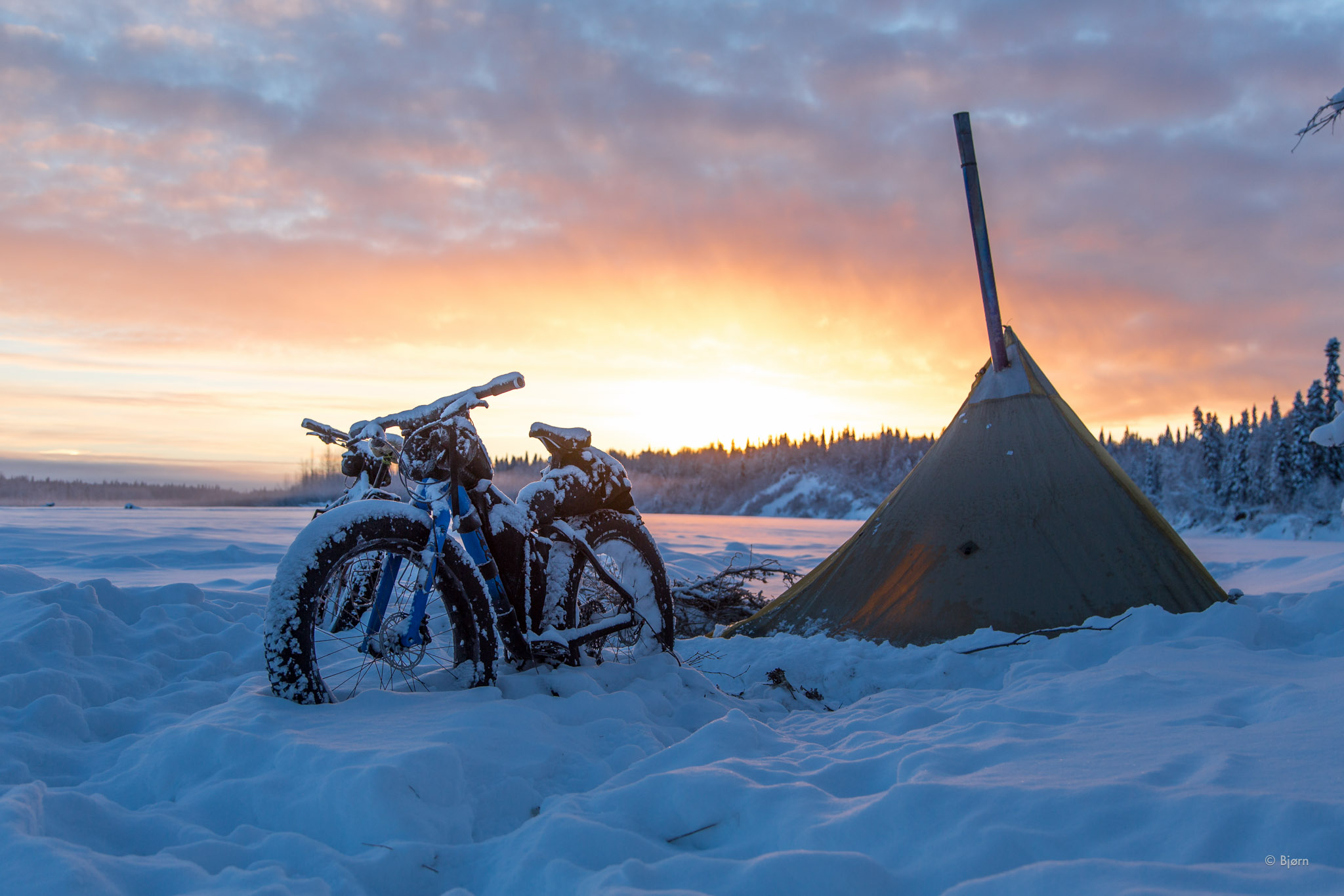 Solstice Camp On The Iditarod