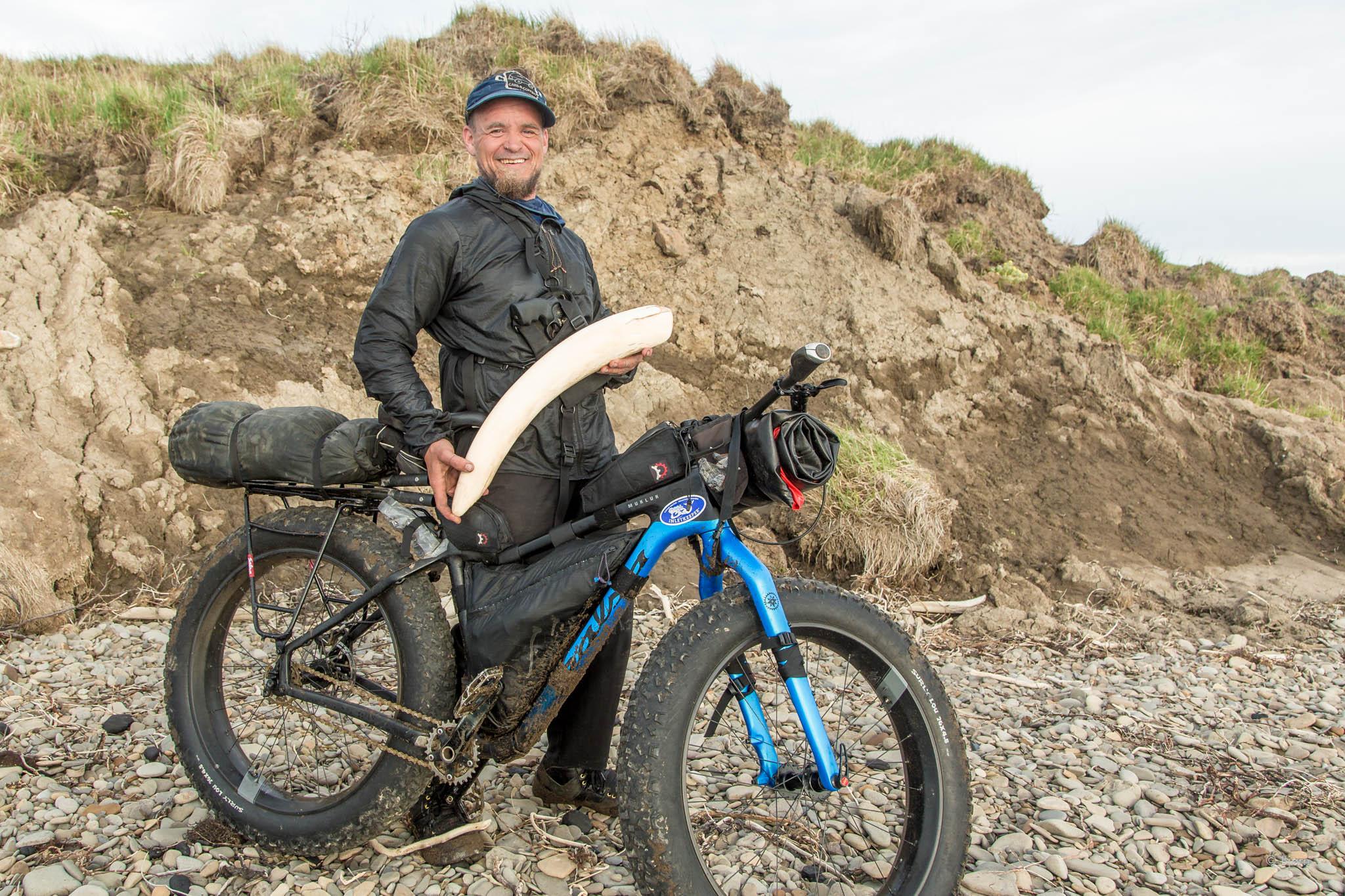 Bjørn finds a mammoth tusk - Arctic Alaska.