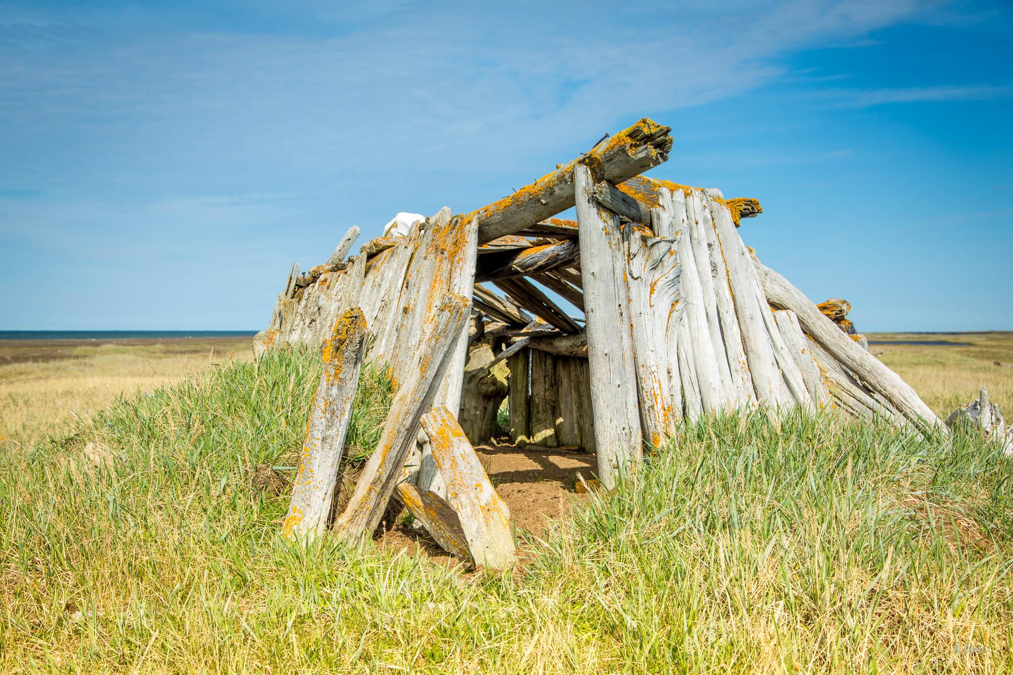 A sod hut - Arctic Alaska.