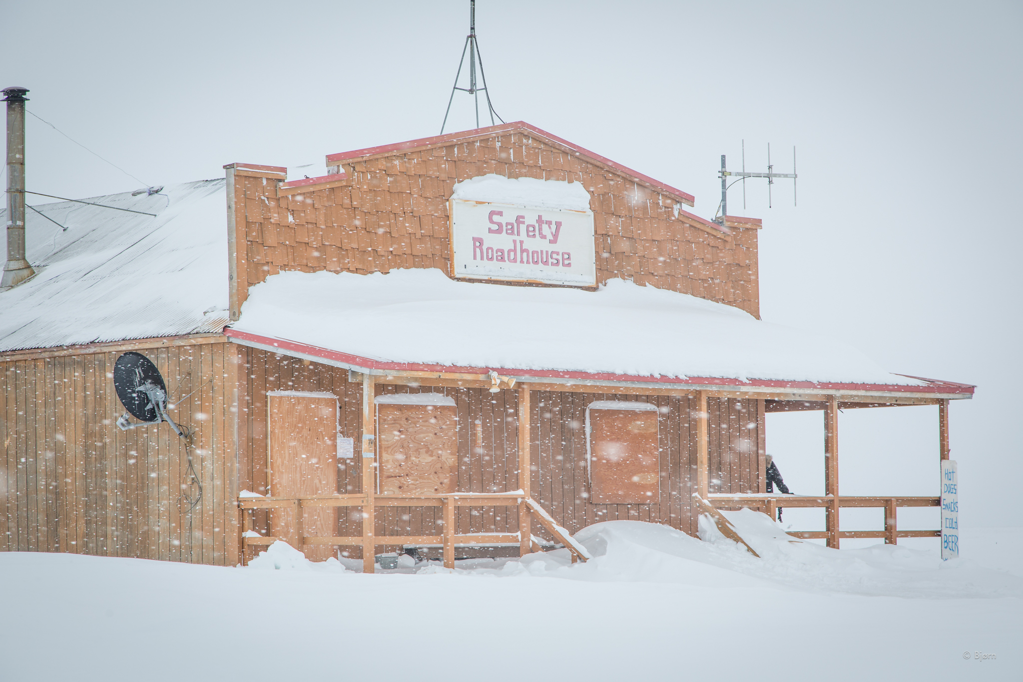 Safety Roadhouse and the last checkpoint on the Iditarod Trail.
