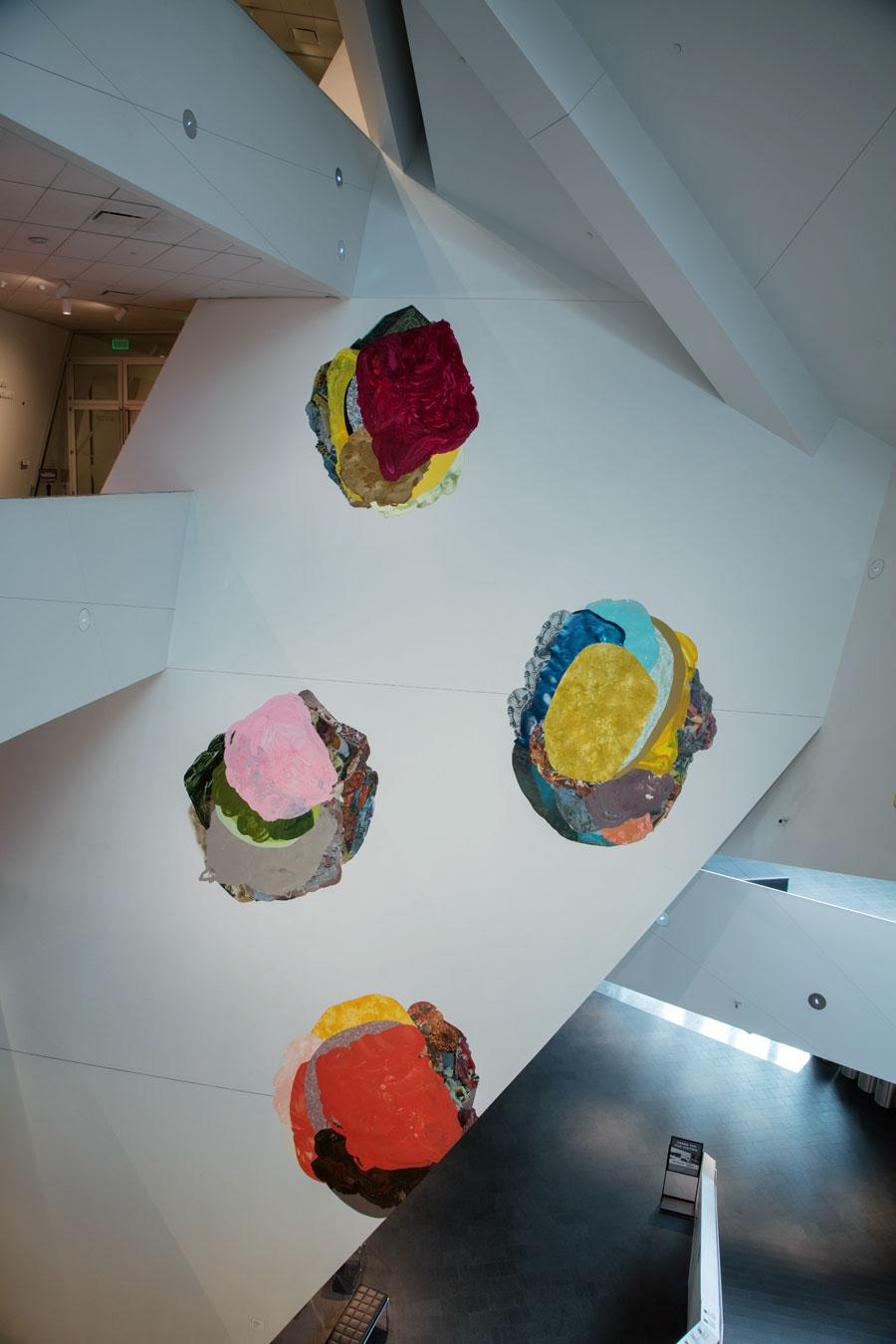 """Xochi Solis's installation """"We were not always fallen from the mountain"""" at the Denver Art Museum."""