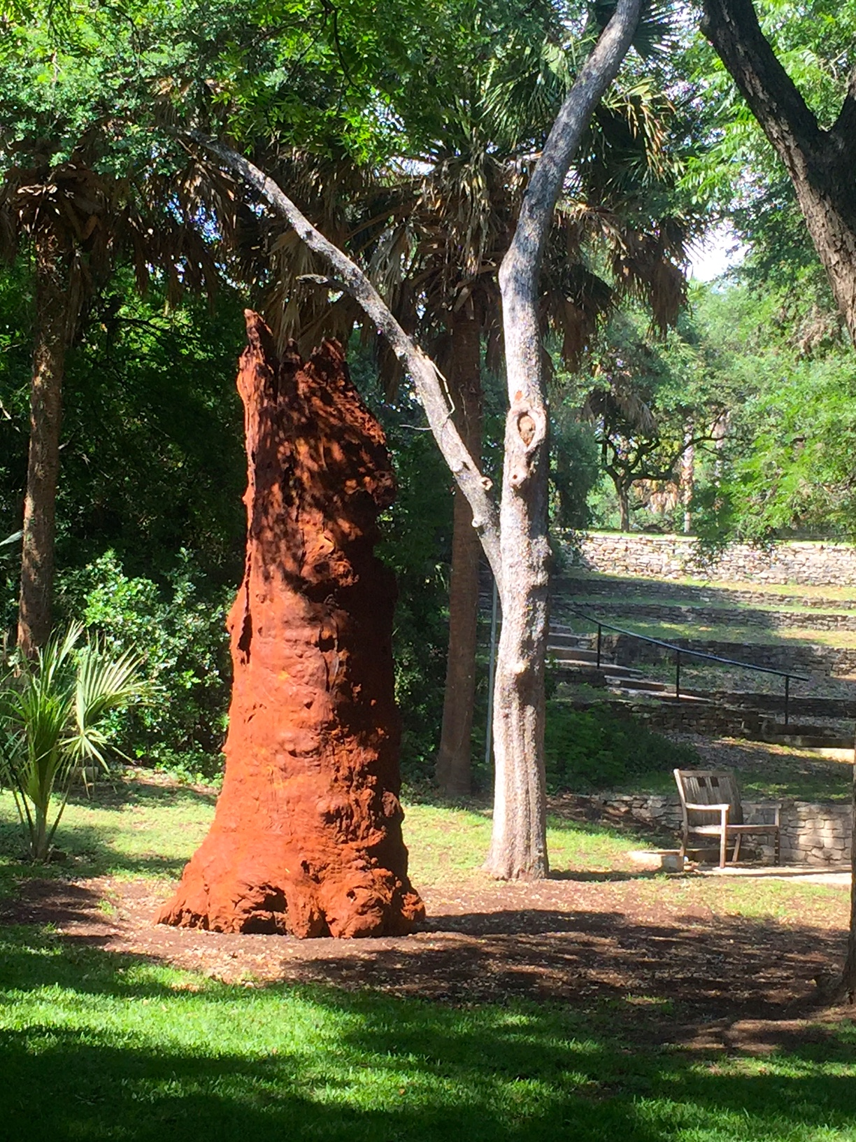 """Iron Tree Trunk,"" Ai Weiwei. At Laguna Gloria."