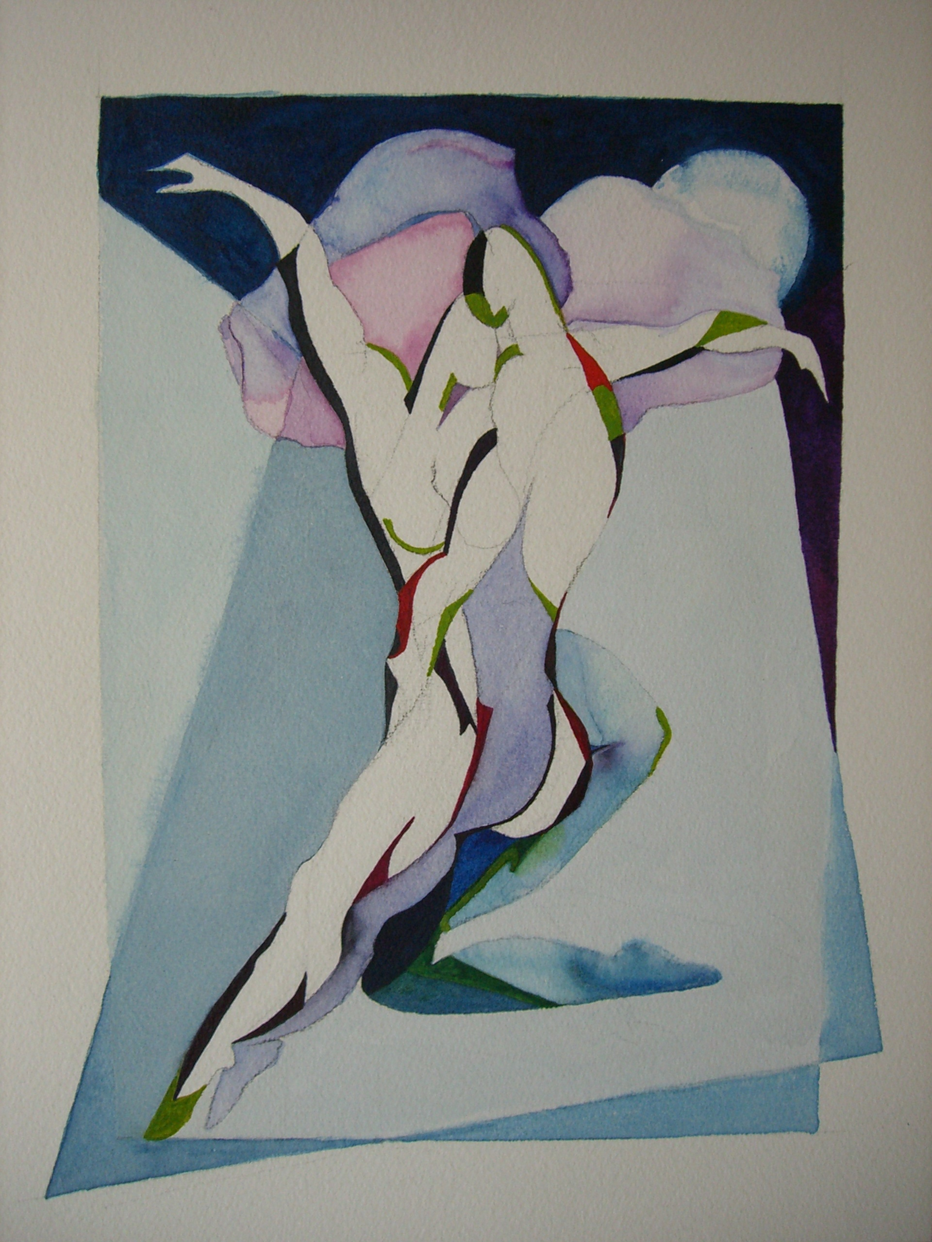 "Wishful Fantacy, 14'x 20"". watercolor, sold at the National Museum for Women in the Arts auction 2006"