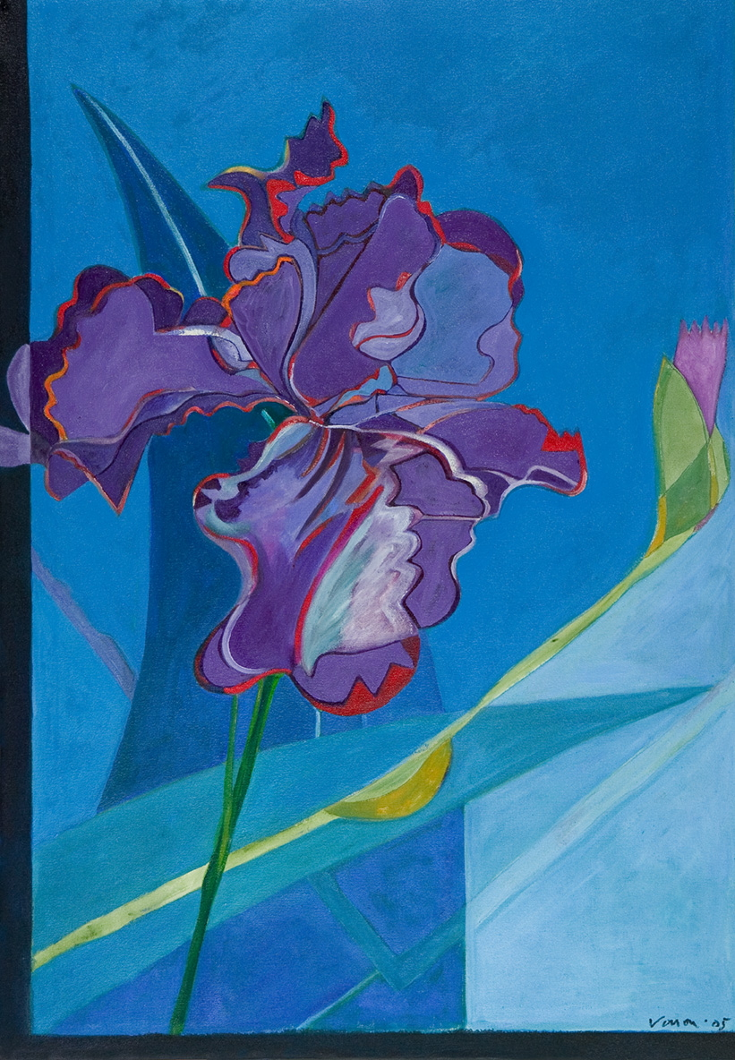 Iris II, 2006 21x31, oil on canvas, sold at the National Museum for the Arts Auction, 2005