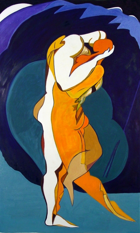 "Surrender, 2005, 21""x30"" oil on canvas, private collection of Jared Green"