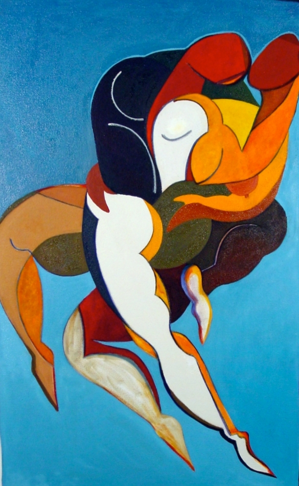 Synergy III, 2006, oil on canvas, private collection of Lily Varon