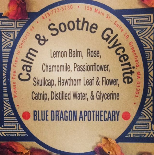 Calm and Soothe Glycerite for the restless heart, aches and pains and general relaxation needs. Safe and delicious for toddlers! Try it for cold and flu support as well. #bluedragonapothecary  #soothesthesoul #herbalmedicine