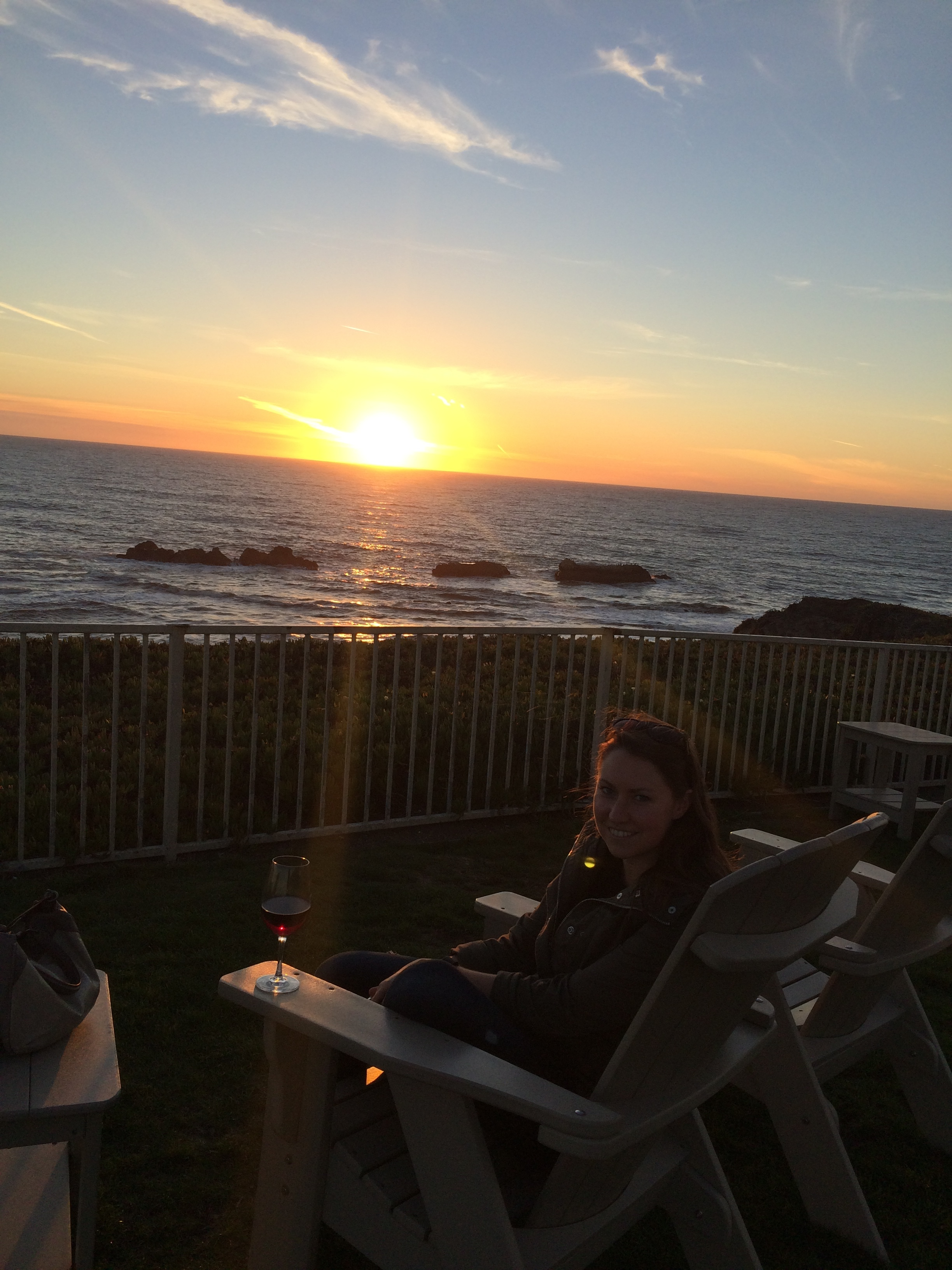 Birthday sunset + wine in Half Moon Bay