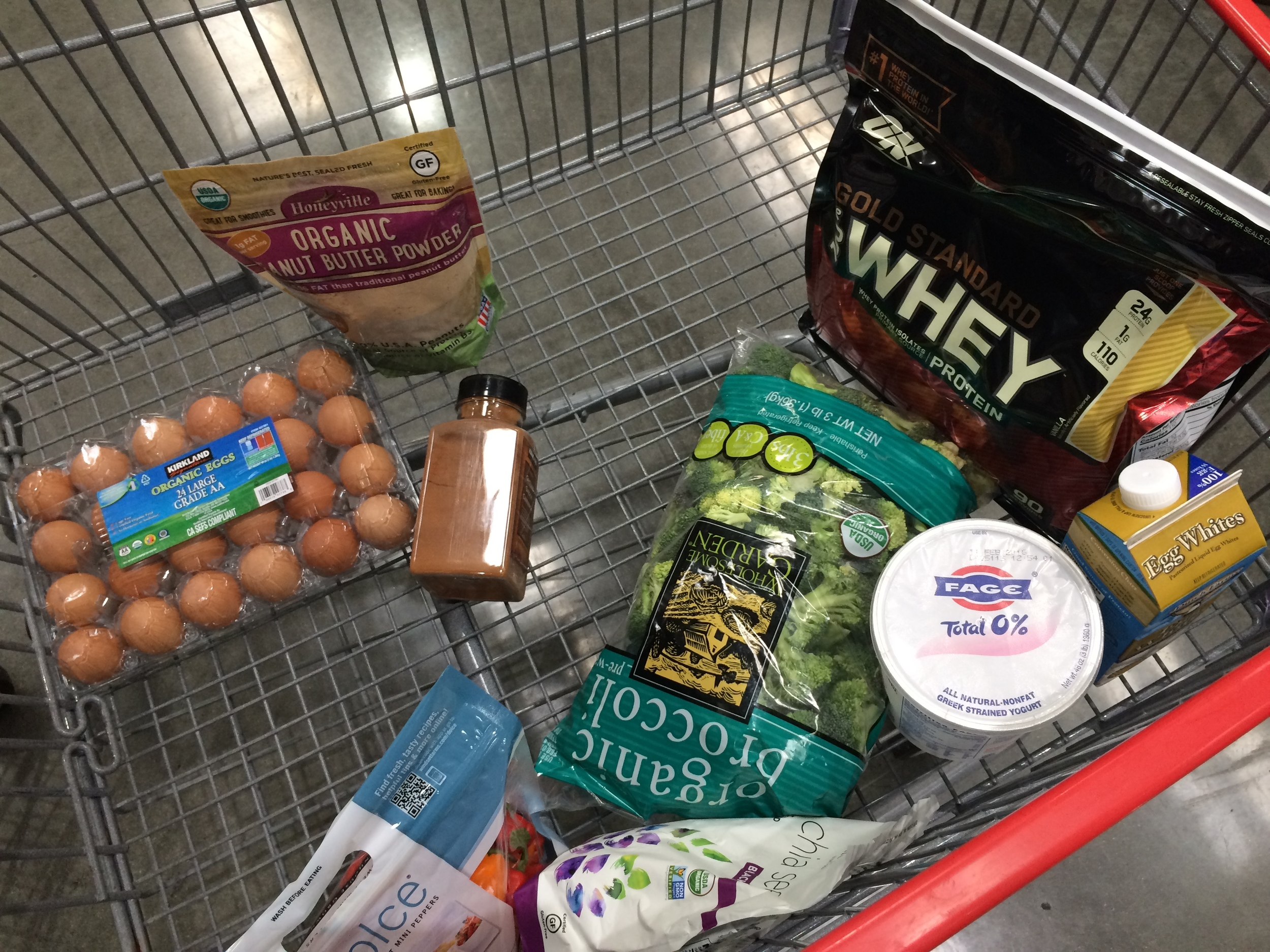 The most stereotypical January Costco cart ever