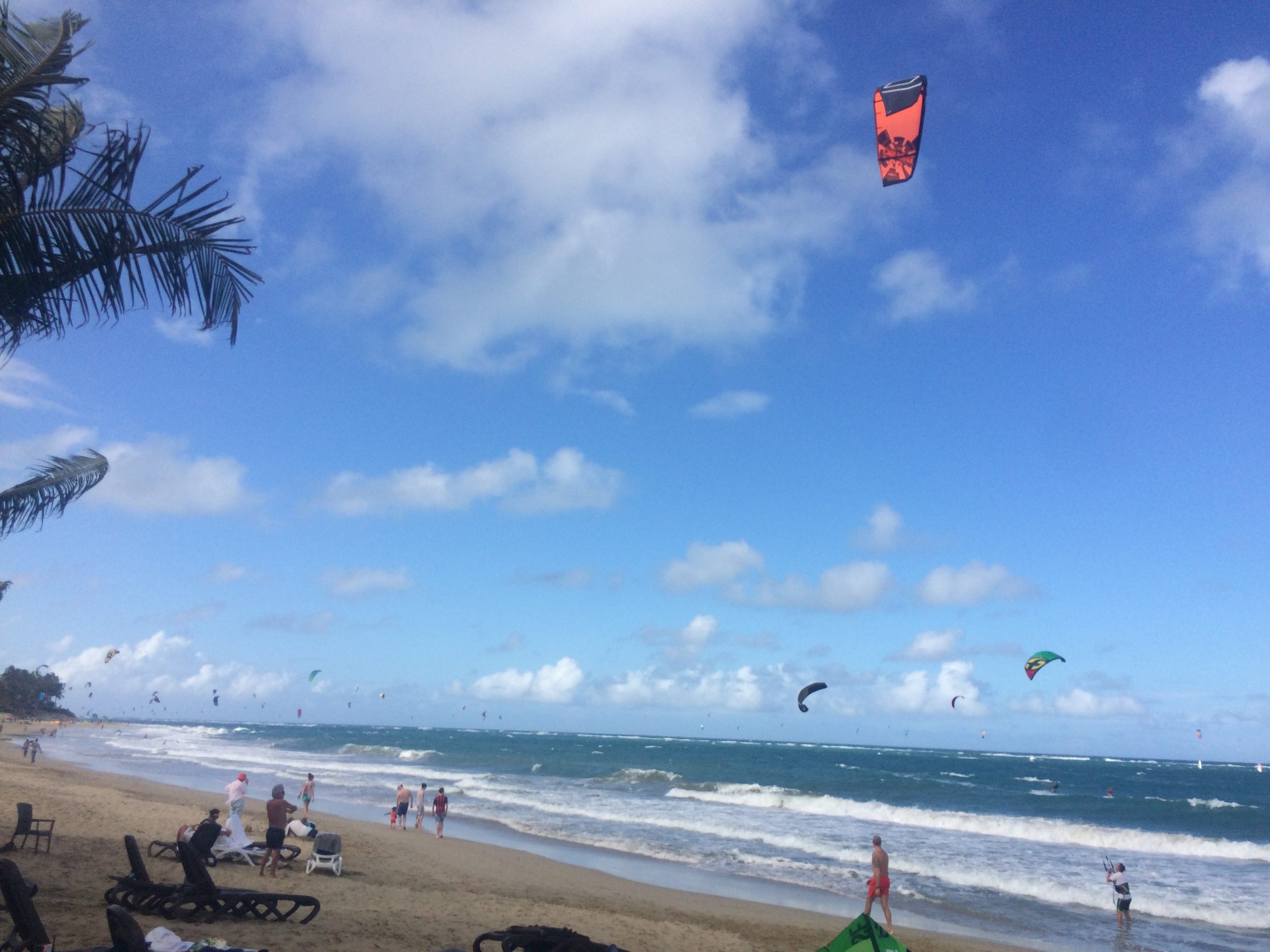 Cabarete, Dominican Republic - Kites in the air