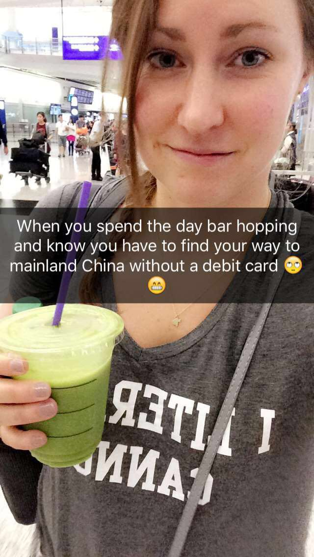 "(not a good sign that I spelled ""now"" wrong. More China travel fun on Snapchat! (juli3g)"