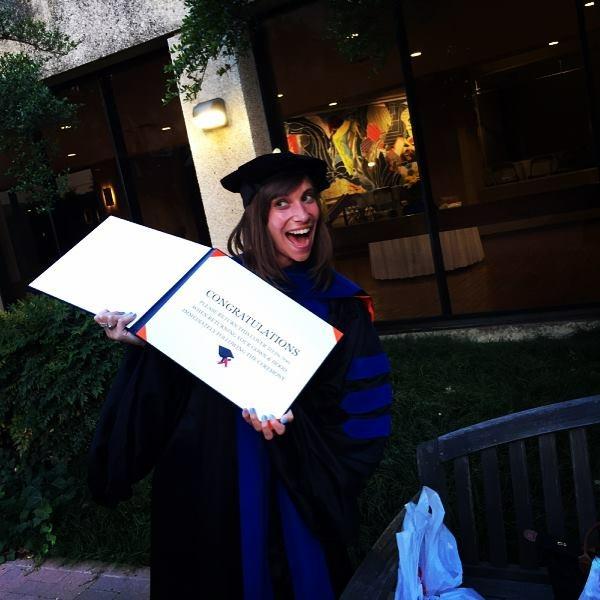 Lauren and her degree!