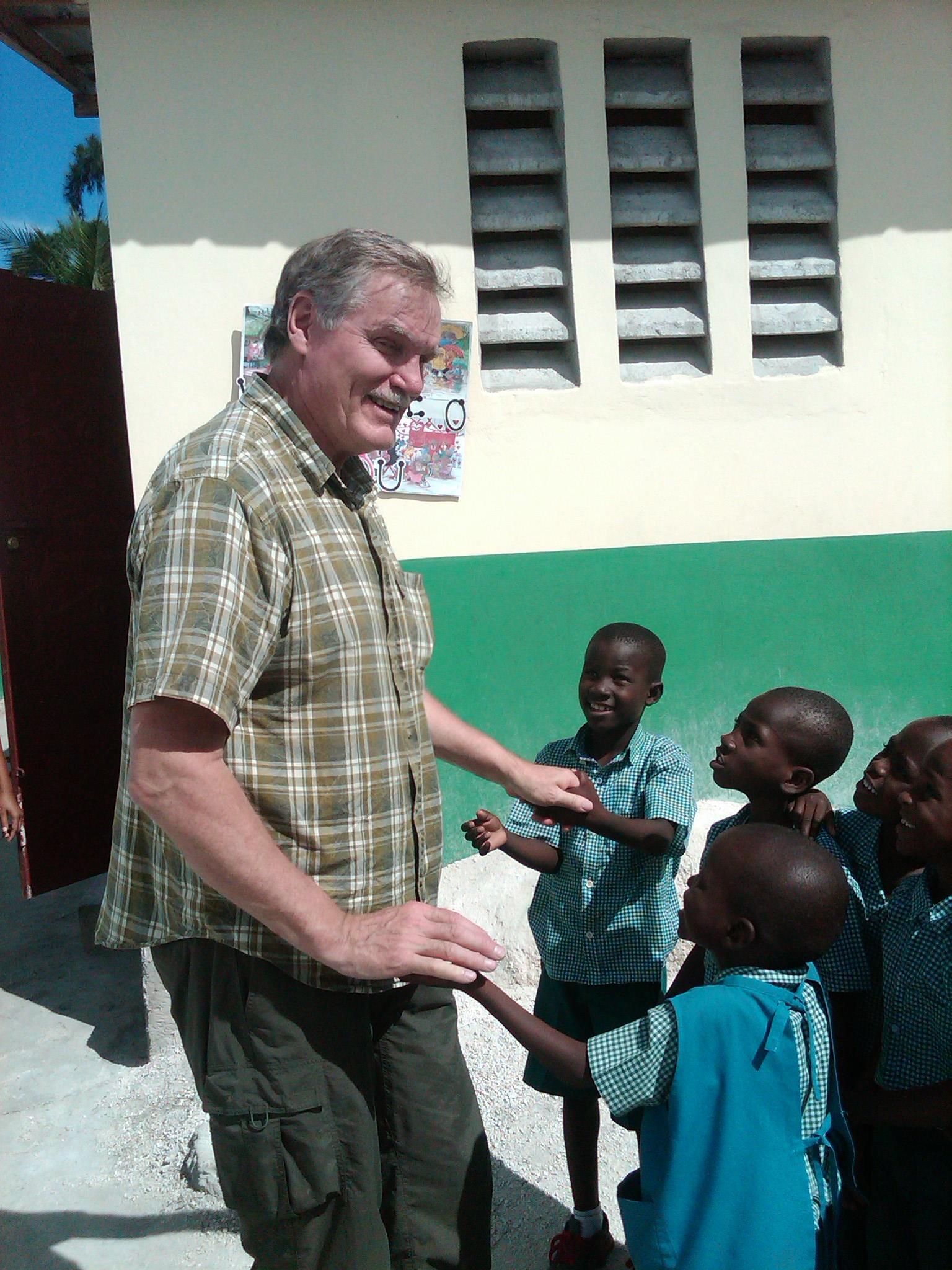 HT Trustee Tom Beadette visits HT schools
