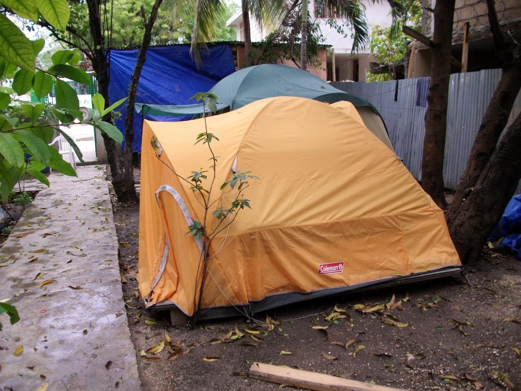 Fr. Tom's tent at Delmas