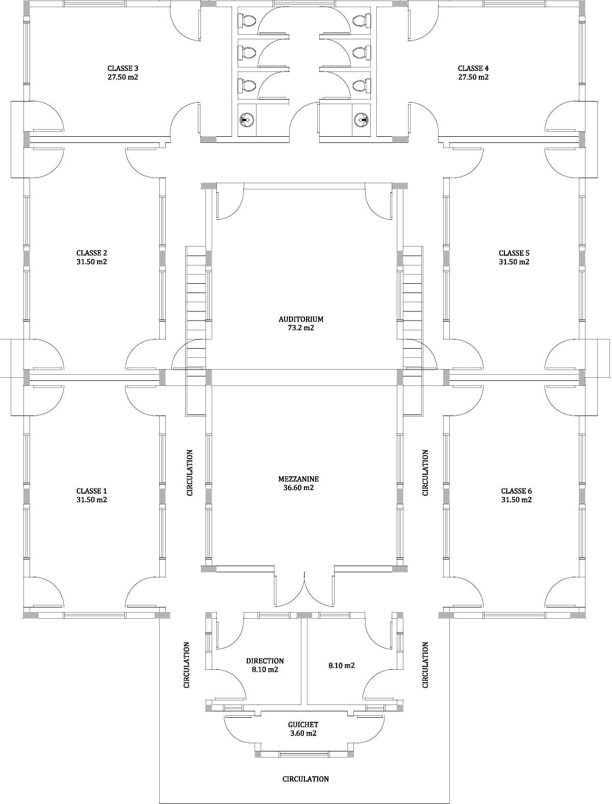 classroom layout of the school