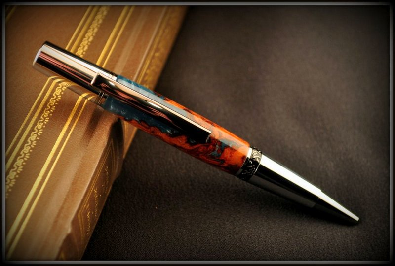 one of anna's handcrafted pens