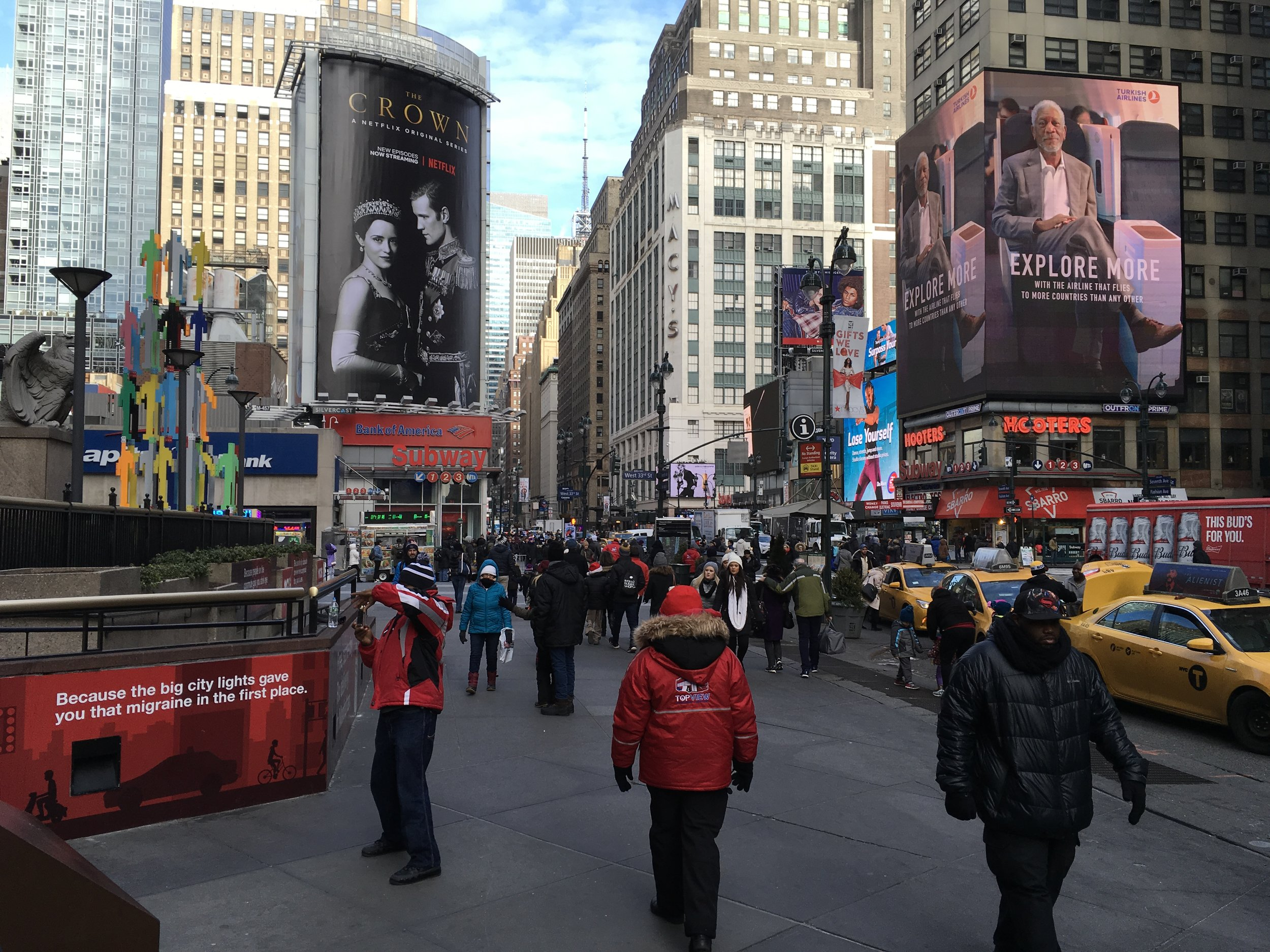 New york city scene in december 2017