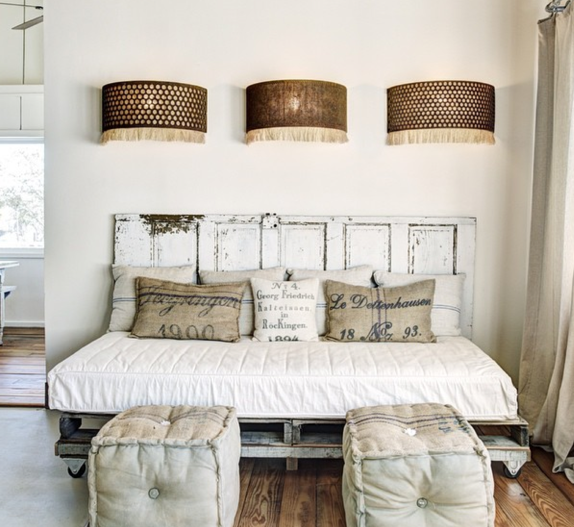 Repurposed decor from   The Vintage Round Top Vacation Home