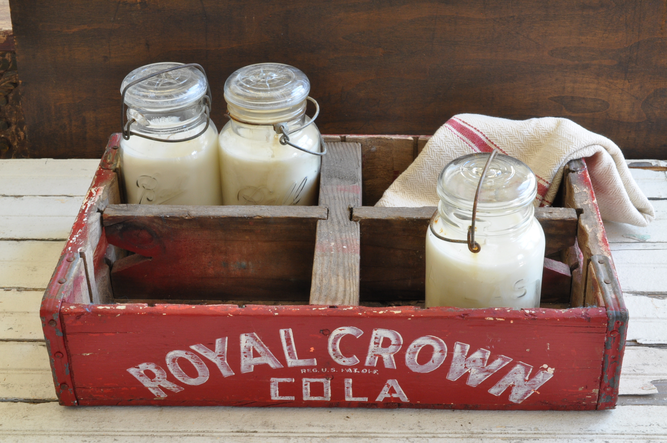 Vintage Royal Crown Cola Crate - The Vintage Round Top Shop