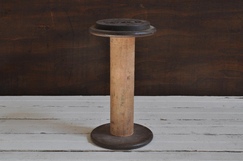 Large Industrial Wooden Bobbin - The Vintage Round Top Shop