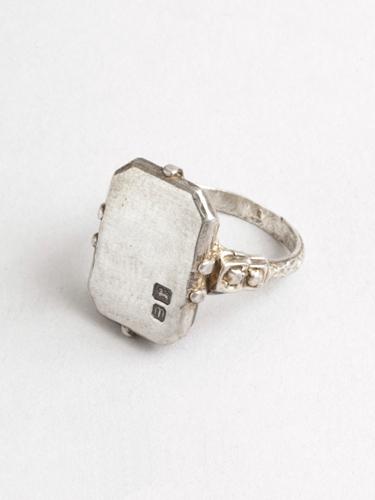 Deco Ring Hallmarked from     Macha Jewelry