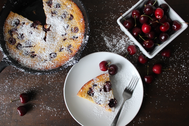 Cherry Buttermilk Clafoutis - The Vintage Round Top