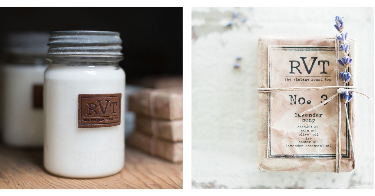 The Vintage Round Top Candle and Soap Collection - Photo: Sarah Best
