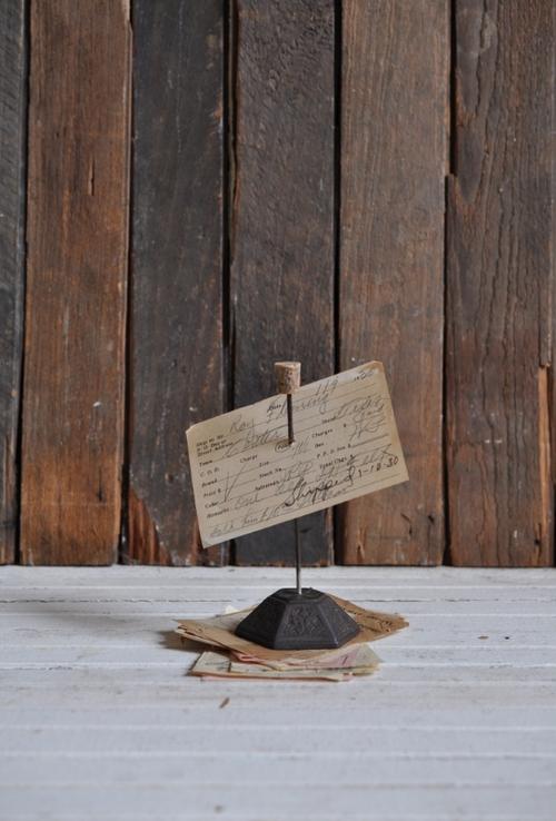 Vintage Receipt Spindle - The Vintage Round Top