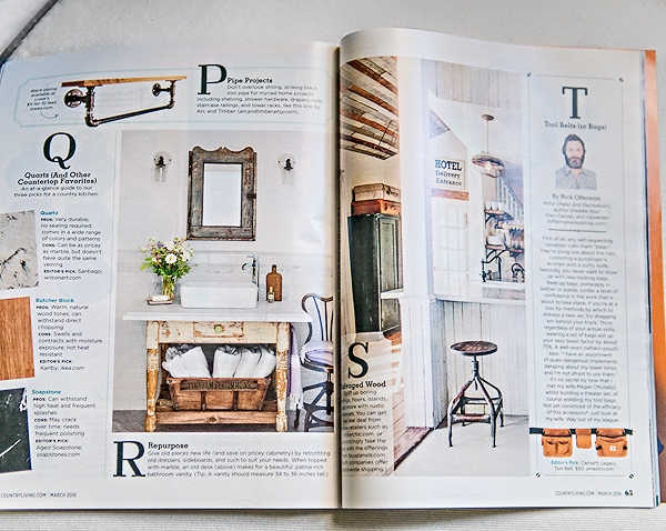 THE VINTAGE ROUND TOP AS SEEN IN MARCH 2016 COUNTRY LIVING MAGAZINE