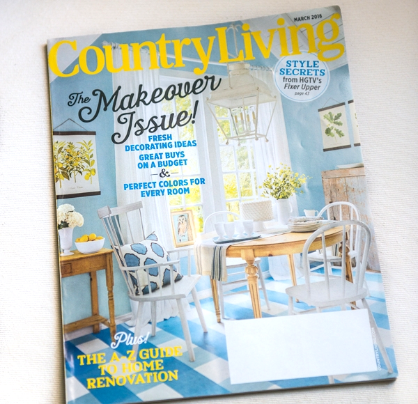 THE VINTAGE ROUND TOP SEEN IN MARCH 2016 COUNTRY LIVING MAGAZINE