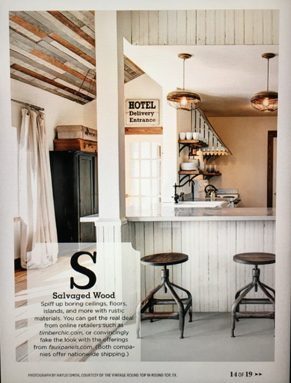 The Vintage Round Top featured in Country Living Magazine March 2016 issue