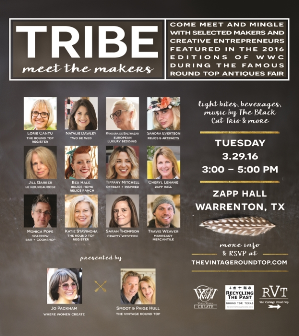 TRIBE - MEET THE MAKERS, The Vintage Round Top, Paige's Blog