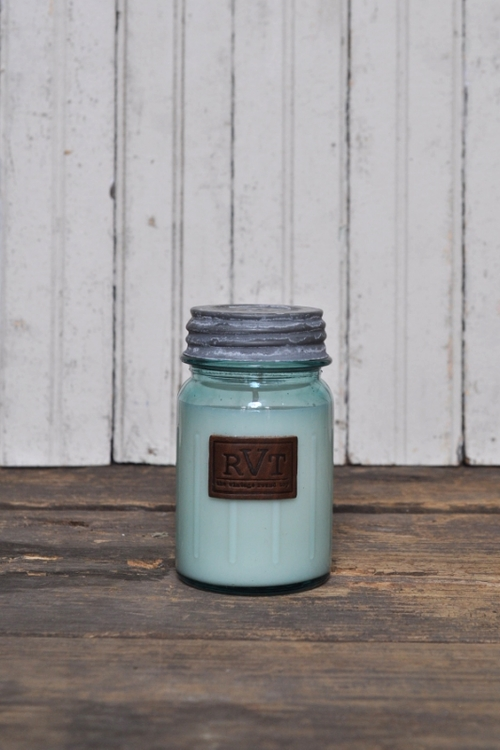 HAND POURED SOY CANDLES, THE VINTAGE ROUND TOP