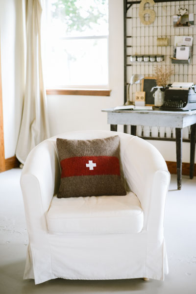 SWISS ARMY THROW PILLOW, THE VINTAGE ROUND TOP