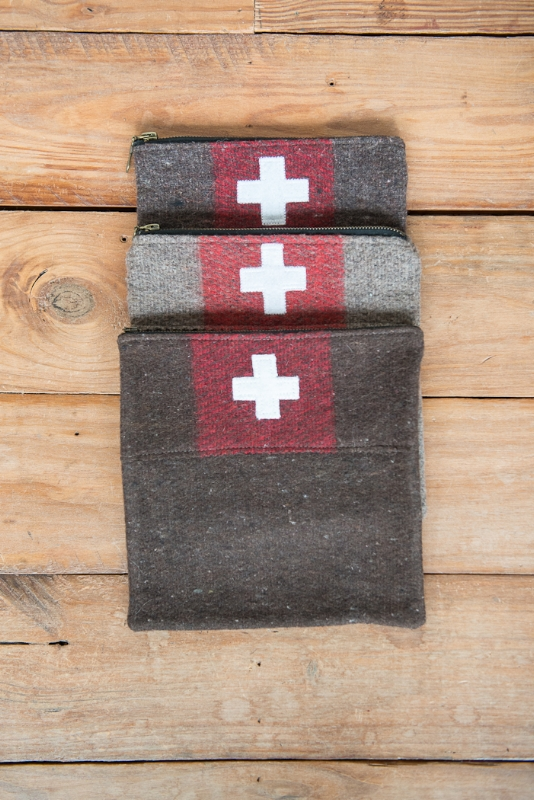SWISS ARMY POUCH, THE VINTAGE ROUND TOP