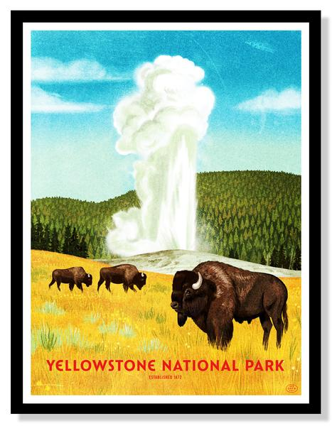 FIFTY-NINE PARKS POSTER, THE VINTAGE ROUND TOP